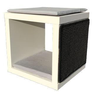 kratzbaum bodenelement wei mit kissen naturholzkratzb ume. Black Bedroom Furniture Sets. Home Design Ideas